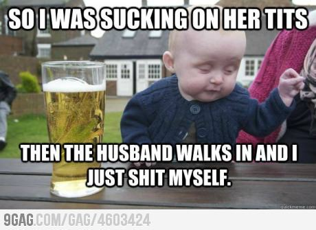 sickintheheadtoo:  9gag:  Drunk Baby has the best stories  xDDDDDDDD