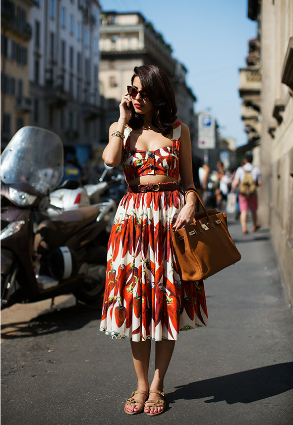 modcloth:  I'm obsessed with this two-piece look. (via The Sartorialist)  <3 Sonal, ModStylist Need styling suggestions, trend tips, or dress details? Ask a ModStylist and your question might be featured on our feed!