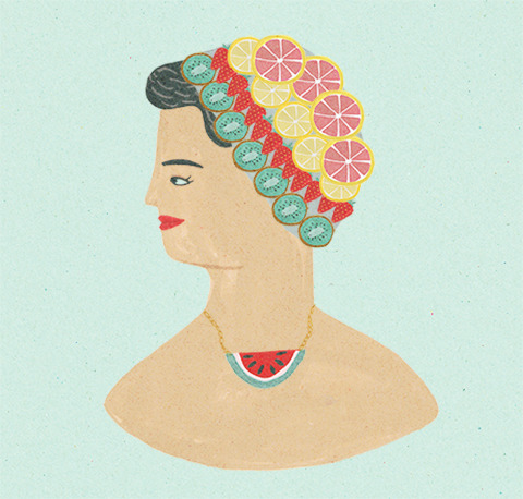 a fruity lady I drew for Amelia's Magazine.
