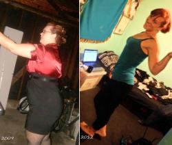 Before and after, side shot. -130 pounds. I know I can keep this up.