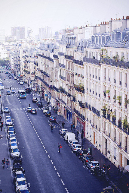 Balcony view, Paris  | by © Rebecka Bjurmell | via refluent