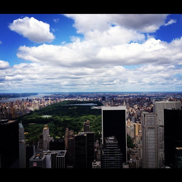Central Park, viewed from the Rockefeller Center