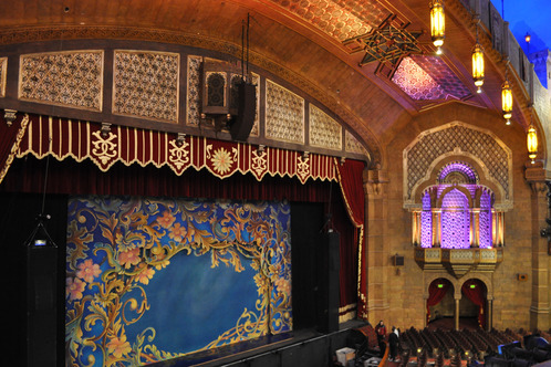 Interior, Fox Theatre, Atlanta, Georgiafrom Trazzler Great shot of the auditorium and stage.
