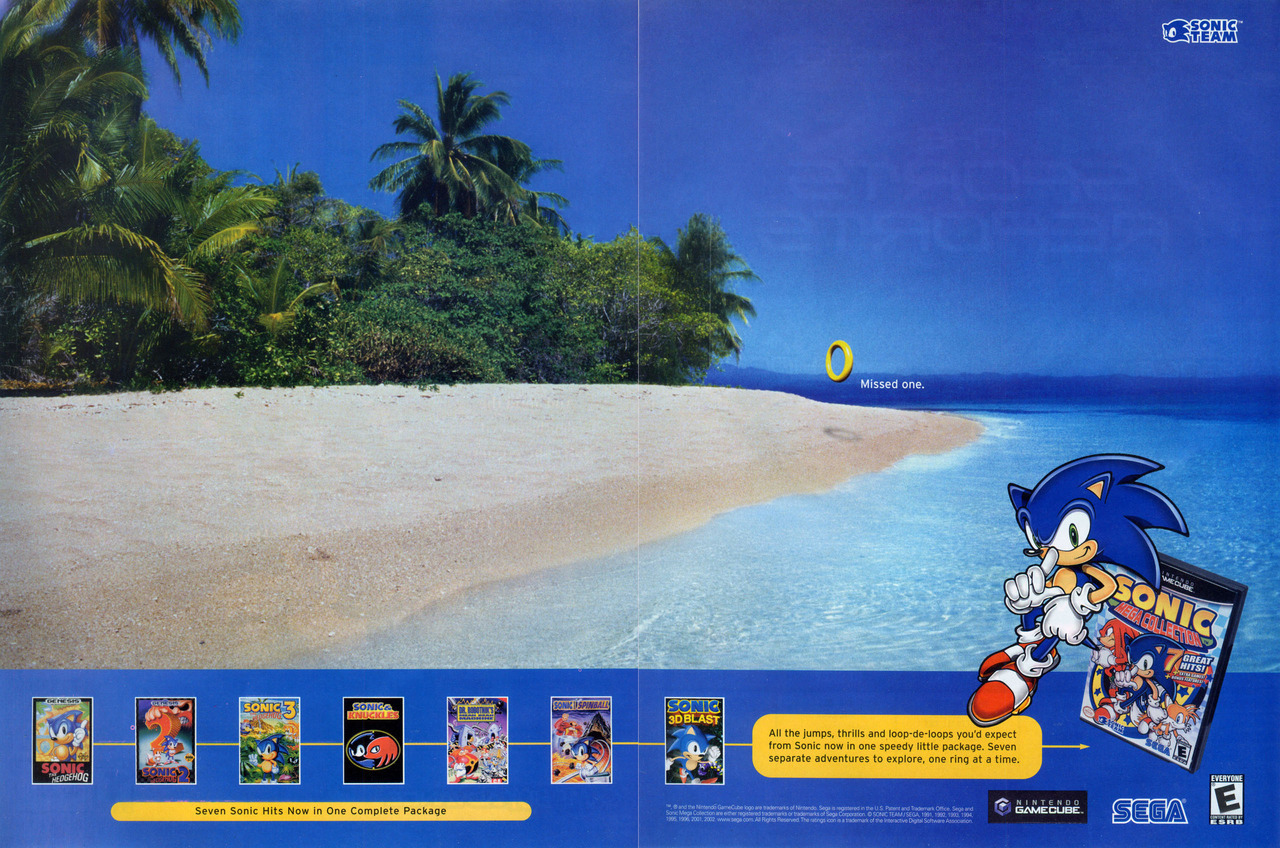 vgjunk:  Sonic Mega Collection ad.