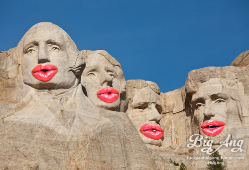 People With Big Ang Lips - Mount Rushmore Happy 4th of July! Create your own on BuzzFeed!