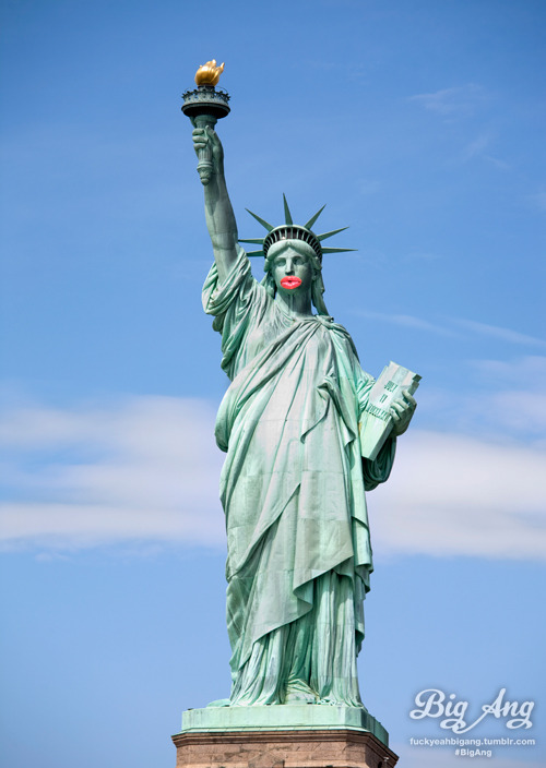 People With Big Ang Lips - Statue of Liberty Happy 4th of July! Create your own on BuzzFeed!