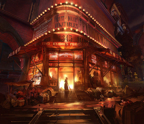 saveroomminibar:  Bioshock Infinite. Artwork by Mike Swiderek and Jorge Lacera