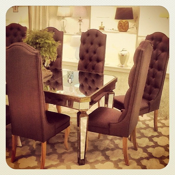 The Mallory Chairs are gorgeous with the Lucinda Dining Table.  (Taken with Instagram)