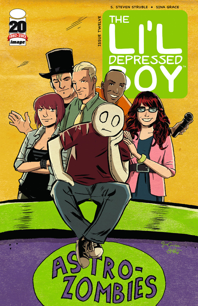 illiteraterainbow:  The Astro-Zombies Exclusive Cover to the Li'l Depressed Boy #12.