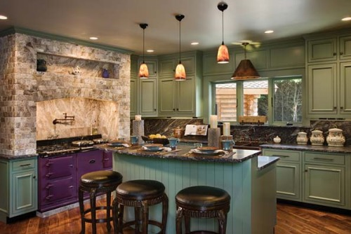 Check out the eggplant colored stove in NAHB's Home of the Day! Funky! And in a log home no less! To see the full home, visit: http://www.nahb.org/news_details.aspx?sectionID=935&newsID=13094&utm_source=tumblr&utm_medium=social&utm_campaign=HOTD