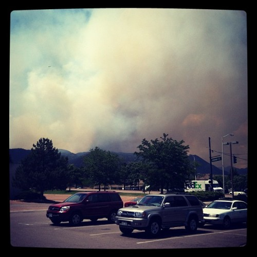 This fire is really getting close to our neighborhood and office.  (Taken with Instagram)