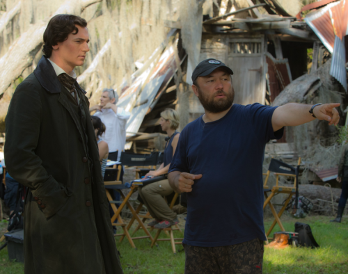 "Actor Benjamin Walker and director Timur Bekmambetov on the set of ""Abraham Lincoln: Vampire Hunter.""  (Photo by Steven Vaughan)  ""Abraham Lincoln: Vampire Hunter"" re-imagines the American Civil War with blood-sucking undead lurking around every corner. Vampires insinuate themselves into the slave-holding Confederacy, but buy slaves for food, not forced labor.  Director Timur Bekmambetov (""Night Watch,"" ""Wanted"") says he decided to take the story seriously. ""It's not trivializing anything,"" Bekmambetov said. ""We created a myth, emotionally explaining what happened in the 19th century."" More."