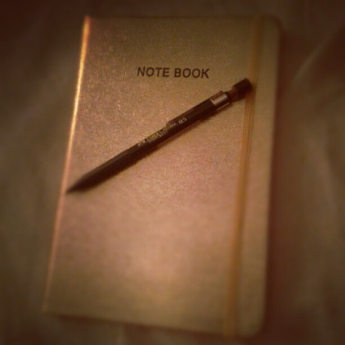 #notebook #golden #sparkle #fabercastell  (Taken with Instagram)