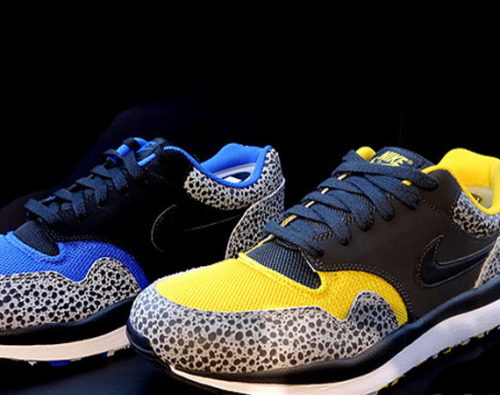 Nike Air Safari LE - Mesh Pack We're seeing several releases at the moment celebrating the 25th anniversary of the Nike Air Safari. The Mesh Pack will be released in limited numbers. They consist of mesh on the box, tongue and ankle lining with the safari print in the classic silhouette and will be available in two different colourways, a blue and yellow. Available from Nike stockists in the next few weeks.