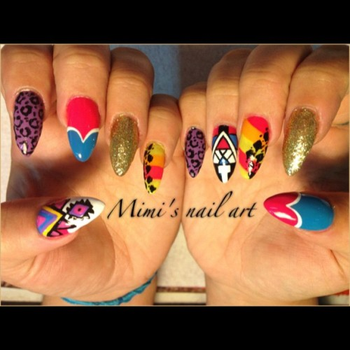#aztec #nailart #nailartswag #nailartclub #nailartoohlala  (Taken with Instagram)