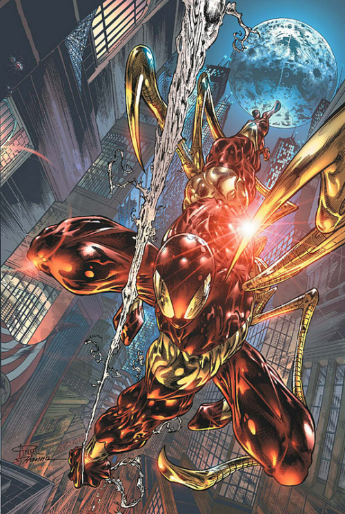 comicbookartwork:  Spider-Man   Iron-Spider is probably one of the best costumes