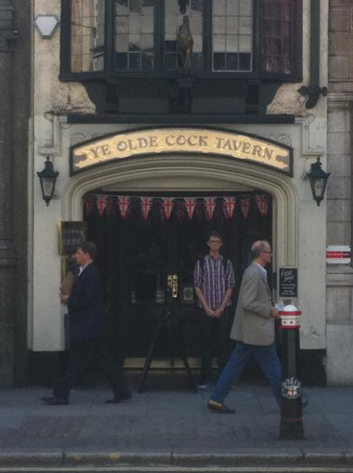 stood under the cock tavern.