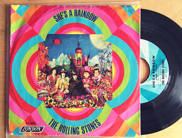 "The Rolling Stones ""She's A Rainbow"" / ""2000 Light Years From Home"" Single - London Records, US (1967)."
