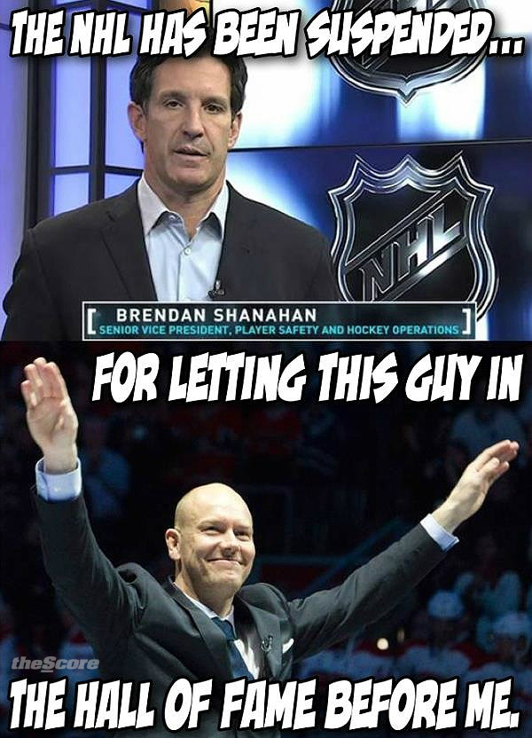 BREAKING: Brendan Shanahan is throwing out suspensions already…