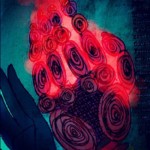 #contaminated #hand #art #gore #paint #draw #red (Taken with Instagram)