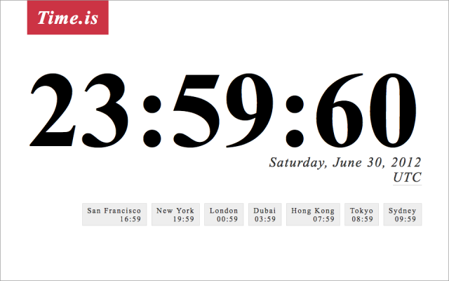 laughingsquid:  Leap Second Scheduled for June 30, 2012