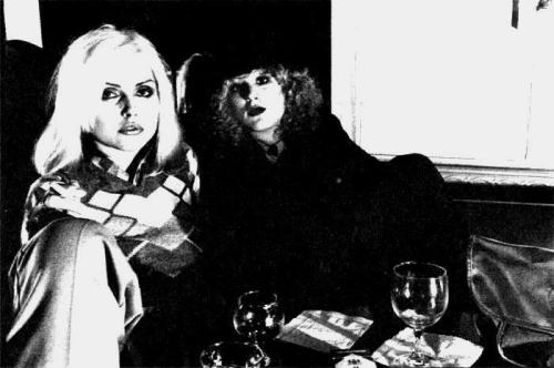 Debbie Harry and Nancy Spungen in NYC, 1976. Photo by Chris Stein.