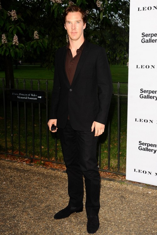 "deareje:  deareje:  Benedict Cumberbatch wearing a polo shirt with a suit like a boss at The Serpentine Gallery Summer Party, Kensington Gardens, London, June 26, 2012.  ETA: now HQ  I straight-up double facepalmed and said into my hands, ""Are you wearing a brown polo under a black suit?"" as if when I opened my eyes it would be different. Benny you are such a woobie and I love your fashion sense (or lack thereof). Never change! I'm so proud of you for not wearing navy socks!"