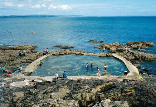 A sea pool off the coast of Mousehole, United Kingdom