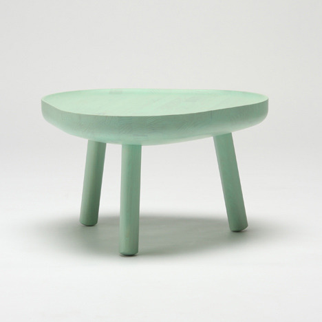 Soft Triangle Low Table,  by  TAF Karimoku New Standard