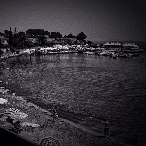 Beach #sicily #b&w (Taken with Instagram)