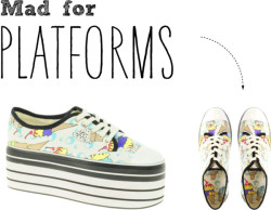 // Mad for platforms par youneedacocktail utilisant print shoes