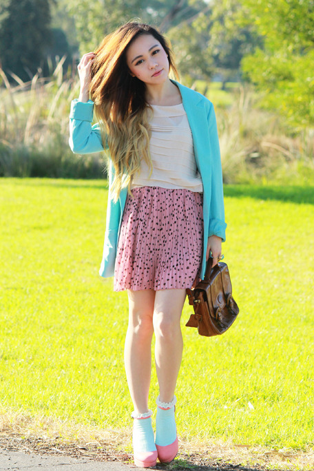 the-streetstyle:  Mint Pink