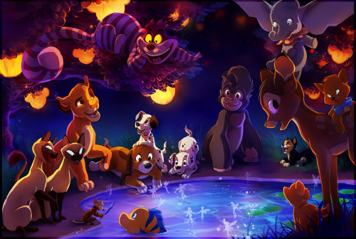 junipirberri:  The Gathering of Disney by *TamberElla