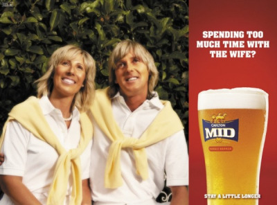 Spending too much Time with the Wife? Carlton Mid Beer: Stay a little longer