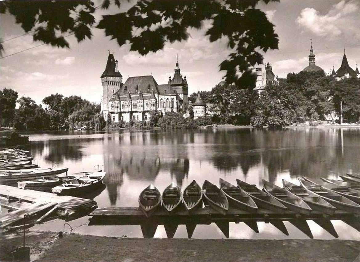 firsttimeuser:  Lake in city park, 1950s photo by Ernő Vadas