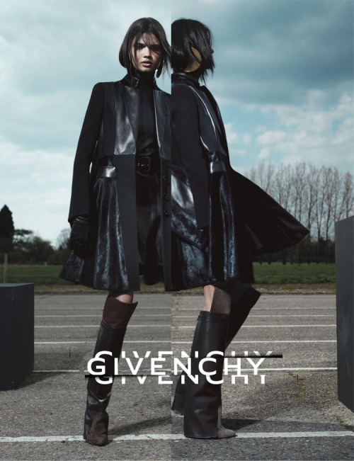 Givenchy ad campaign with the brazilian model Daniela Braga. Styled by Carine Roitfeld and photographed by Mert Alas and Marcus Piggott.