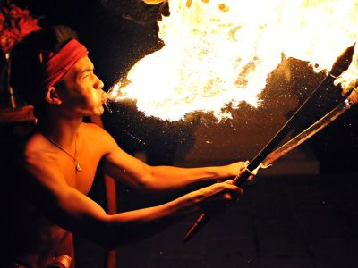 Fire performer, Thailand.  Follow us for more…
