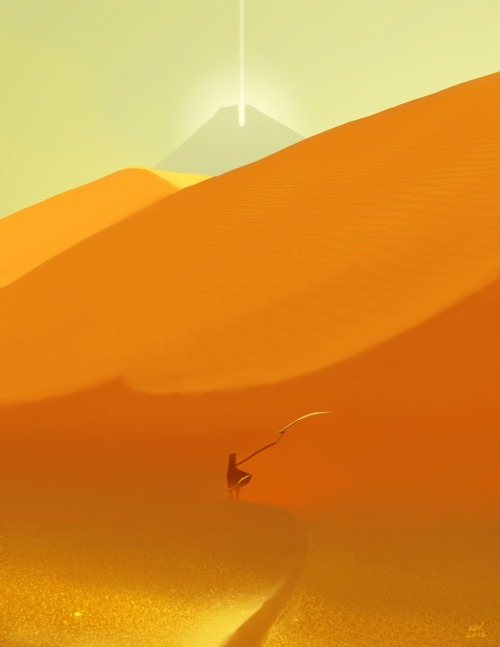 niuner:  I recently played a game called Journey and my gosh it was stunning! Unlike most of games I normally play, Journey is stripped down to the very core of emotional expression using visual and audio interaction. The game takes its vagueness to advantage, allowing the player to figure out everything from the very beginning and experience the journey up close. I absolutely love the way music and the visuals intertwine in the game as every moments is designed so precisely to accentuate the best experience possible. I'm really looking forward to playing this game again and getting the white robe! I also read that the company (called thatgamecompany) has finally made all 3 games for PSN marking the end of their contract with Sony to produce solely for PSN. Now that they have more freedom, I can't imagine but to be excited for what comes next. It'd be super cool if their games (like Journey) came to the iOS.  Oh my goddd, I've been wanting to play this.