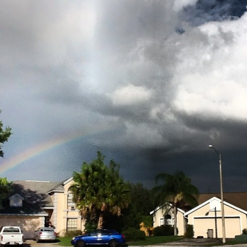 #debby is not such a downer after all. #rainbow #sky #florida #orlando #ig (Taken with Instagram)