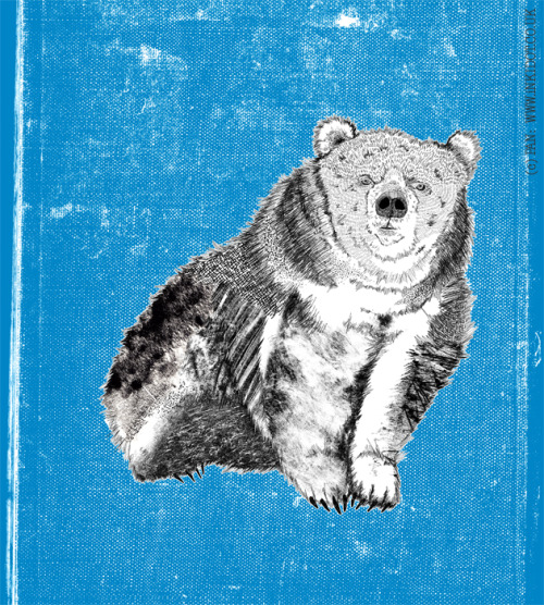 'Bear' (working title) 2012 Digital Drawing with Monoprint textures
