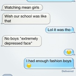 Fashion girls were vicious… And the boys were too much #fashion #highschool #meangirls @nuesiiseun  (Taken with Instagram)