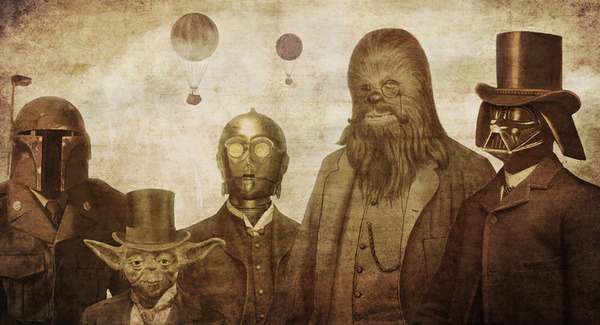 doctormonocle:  Victorian Wars Art Print by Terry Fan via Society6