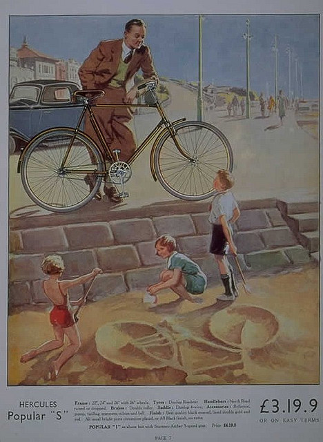 Hercules cycle advertising by Mark Gell on Flickr.