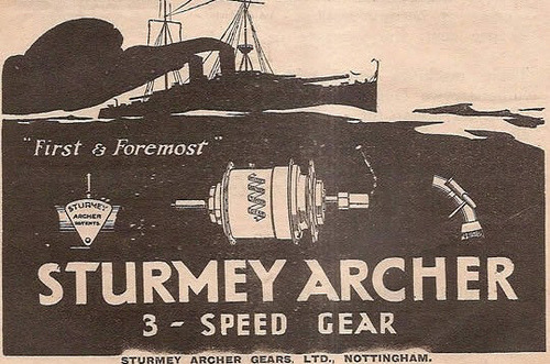 Sturmey Archer ads … by Mark Gell on Flickr.