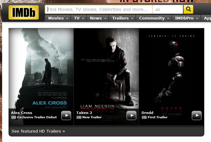 IMDB wants me to do a lot of brooding this summer.