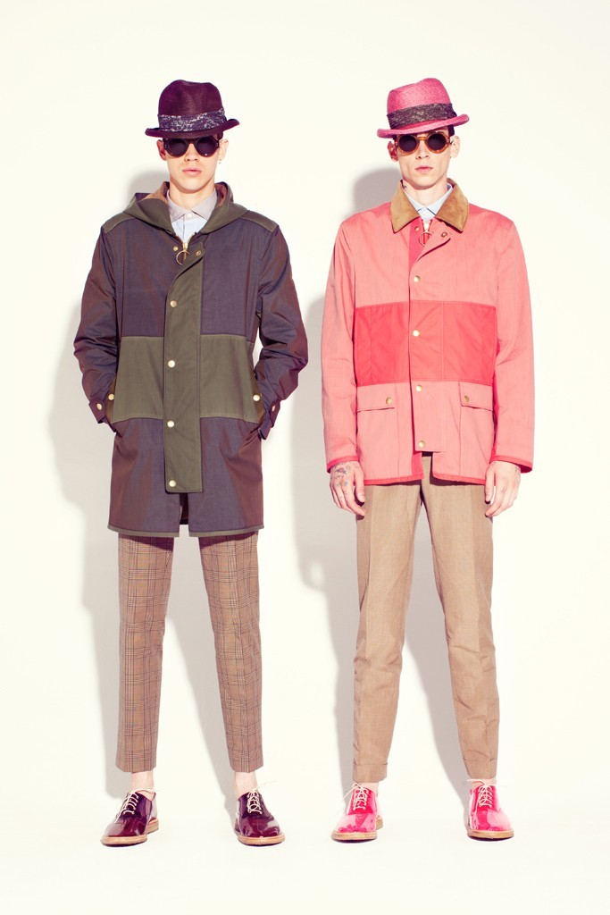 Lyle Lodwick and Cole Mohr Marc Jacobs Men's RTW Spring 2013  (via WWD.com)