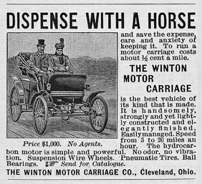 The World's First Car Ads in 1898: the Winton Motor Carriage