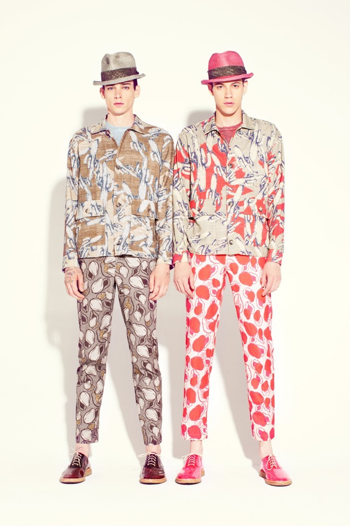 Cole Mohr and Lyle Lodwick  Marc Jacobs Men's RTW Spring 2013 (via WWD.com)
