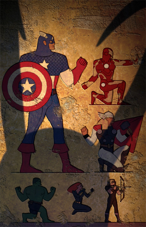 airation:  todundverderben:  Egypt Avengers by *ChristianNauck  What's that annoying shadow blocki—oh.
