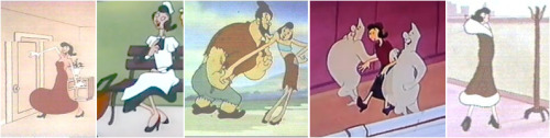 When it comes to heels, especially black sparkly heels, Olive Oyl is a total addict!